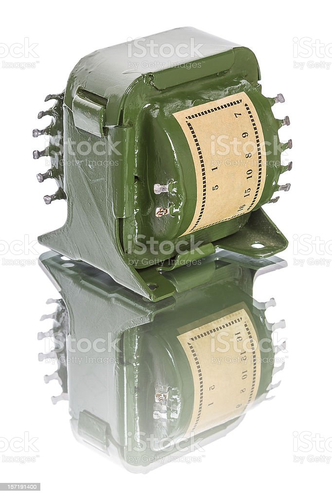 Electronic transformer stock photo