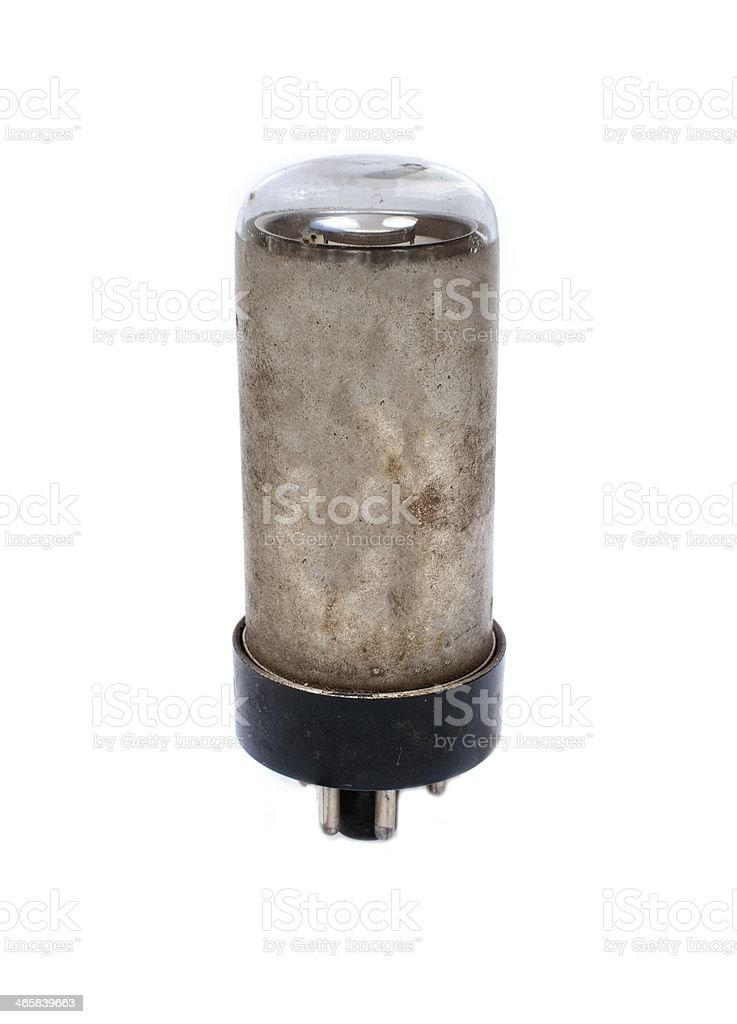 Electronic vacuum lamp stock photo