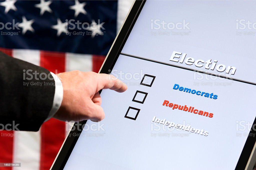Electronic Voting - Choice stock photo