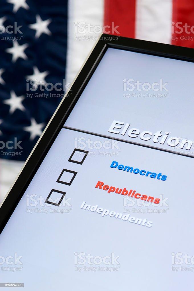 Electronic Voting stock photo