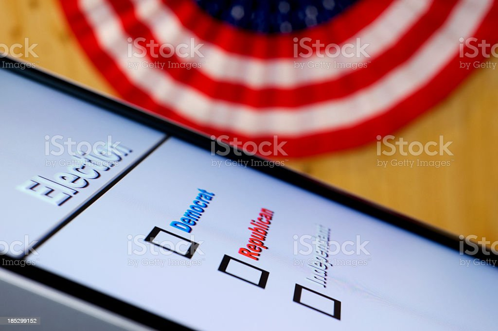 Electronic Voting - Selection stock photo