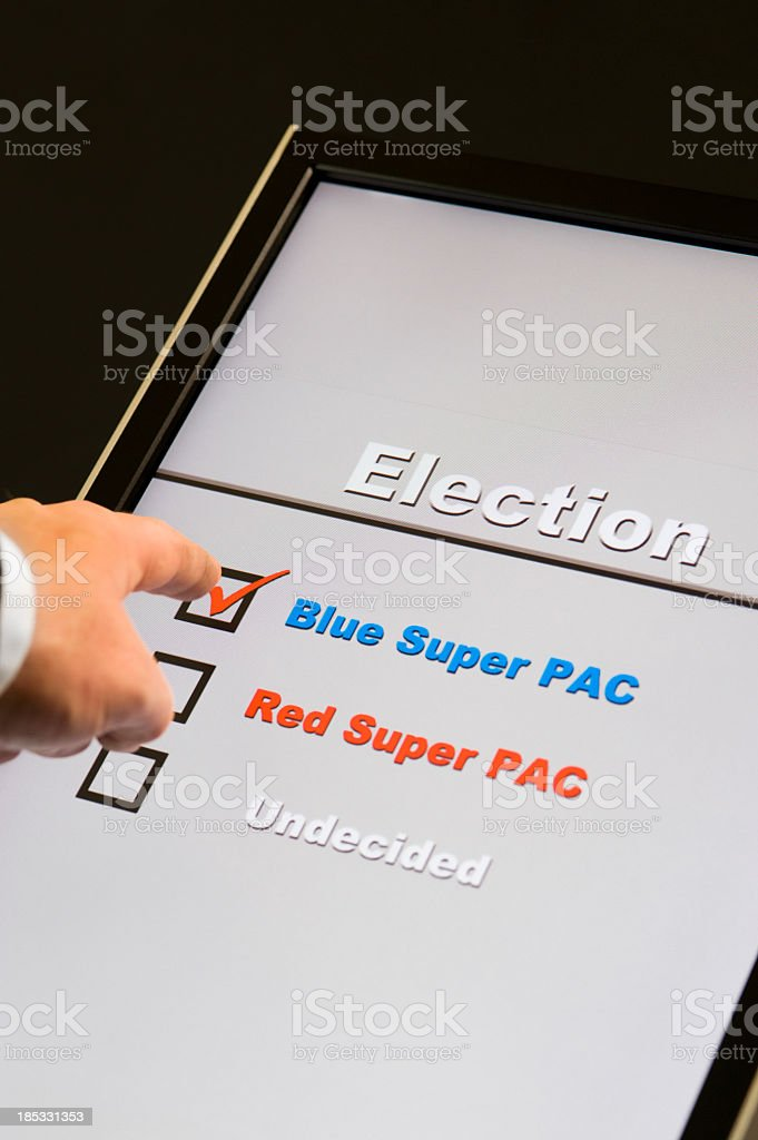 Electronic Voting - Super PAC stock photo