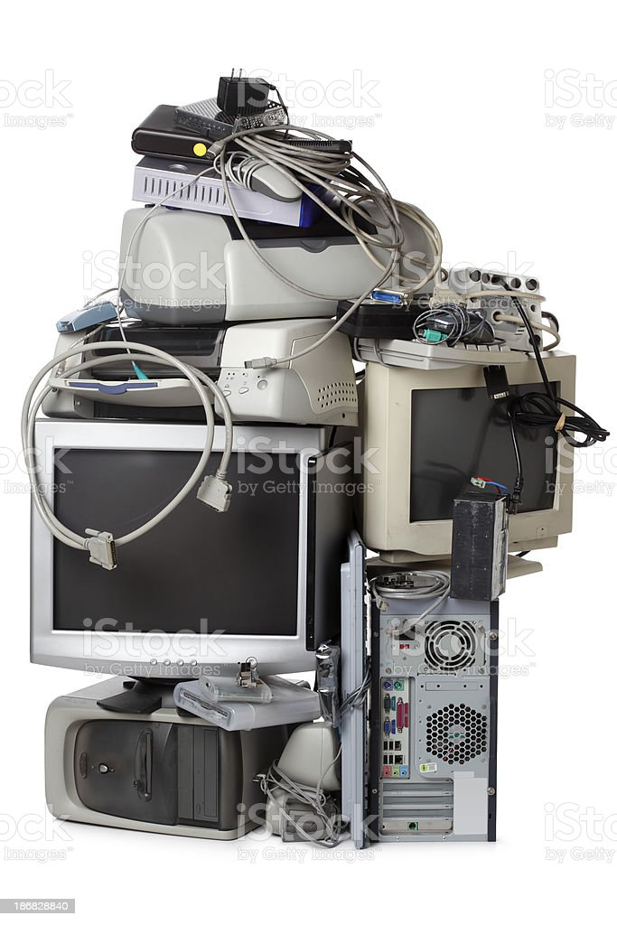 Electronic Waste stock photo