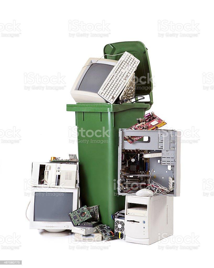 electronic waste stock photo