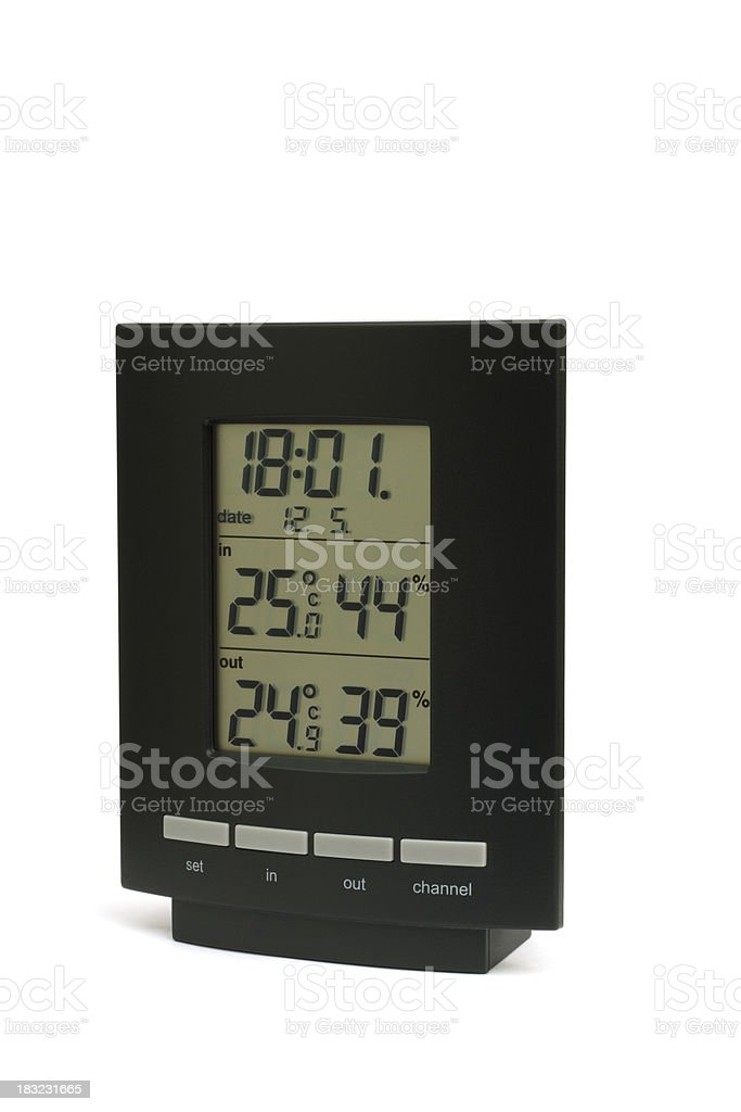 Electronic Weather Station (path included) stock photo