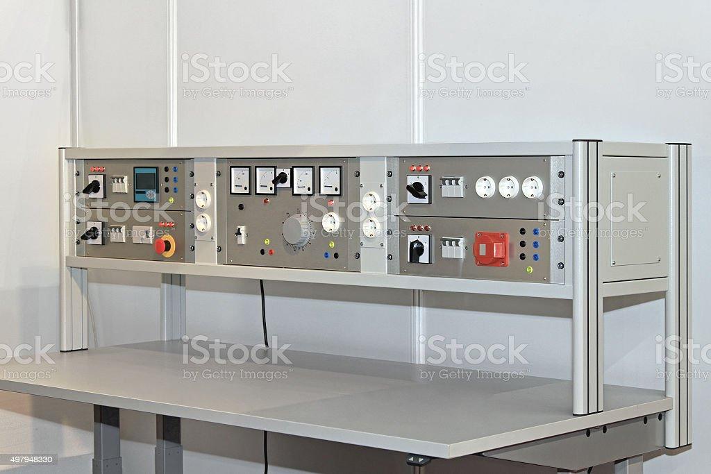 Electronic Workbench stock photo