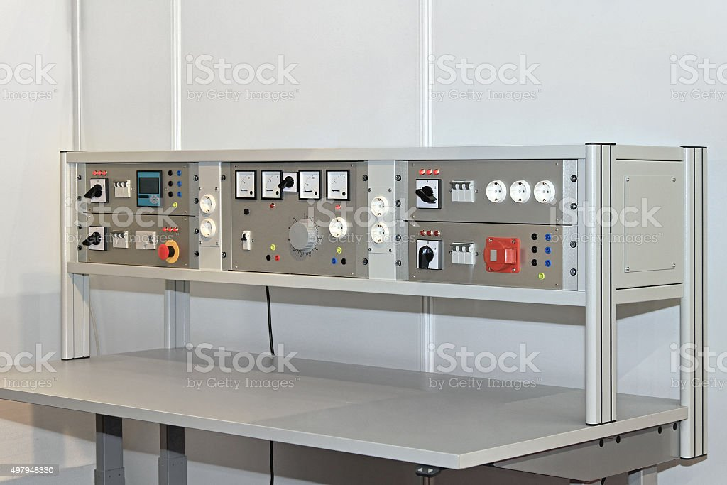 Electronic Workbench stock photo