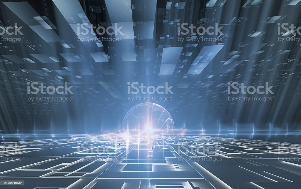 electronic world, scientific background stock photo