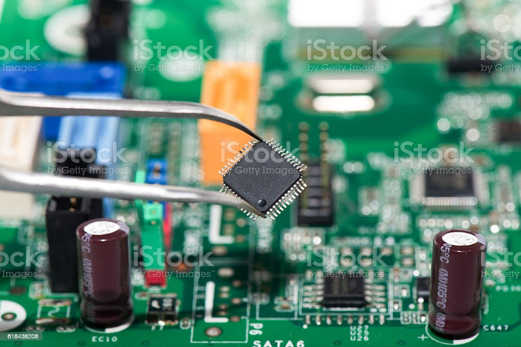 Electronical components stock photo