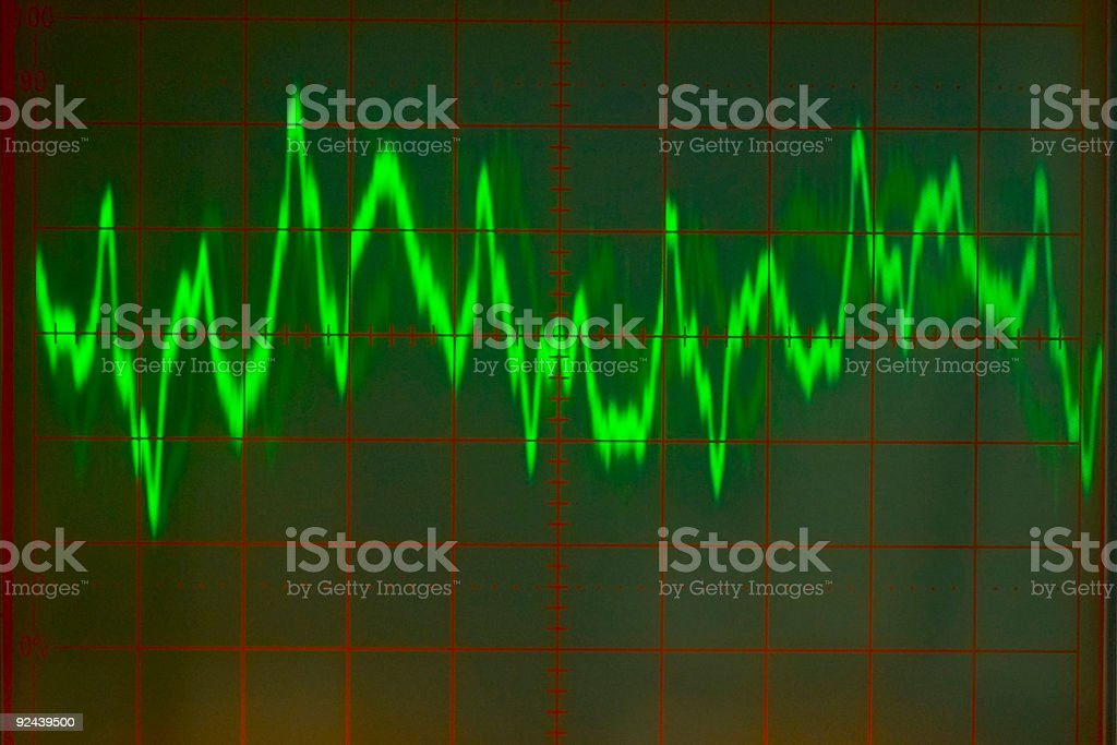 Electronics - Audio Wave Form #4 royalty-free stock photo