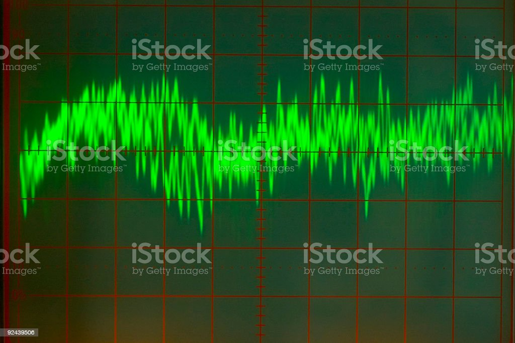 Electronics - Audio Wave Form #3 royalty-free stock photo