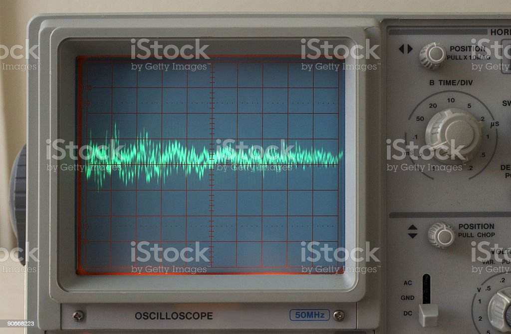 Electronics - Audio Waveform stock photo