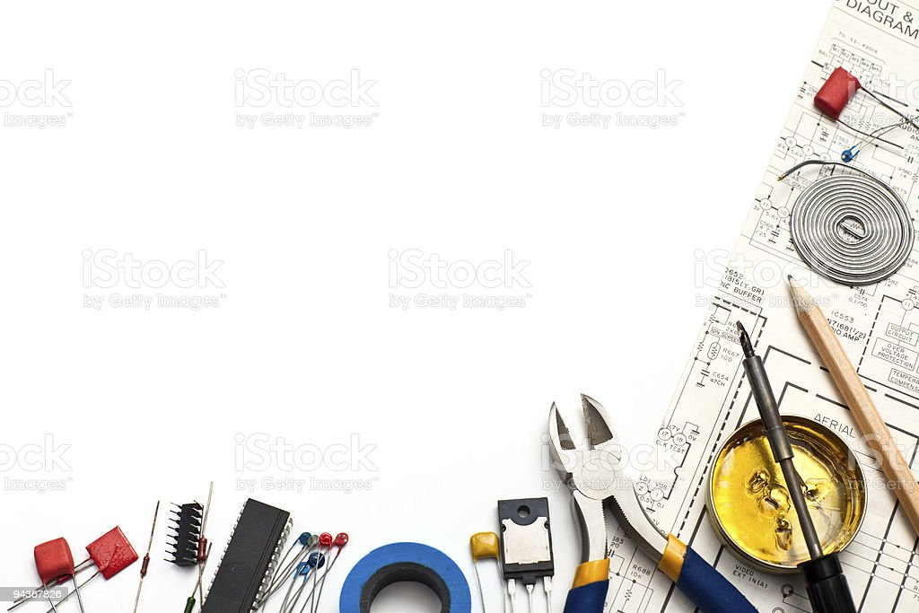 Electronics background stock photo