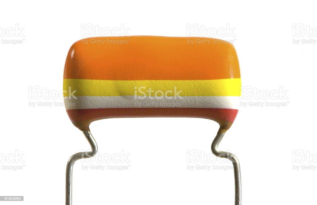 Electronics capacitor royalty-free stock photo