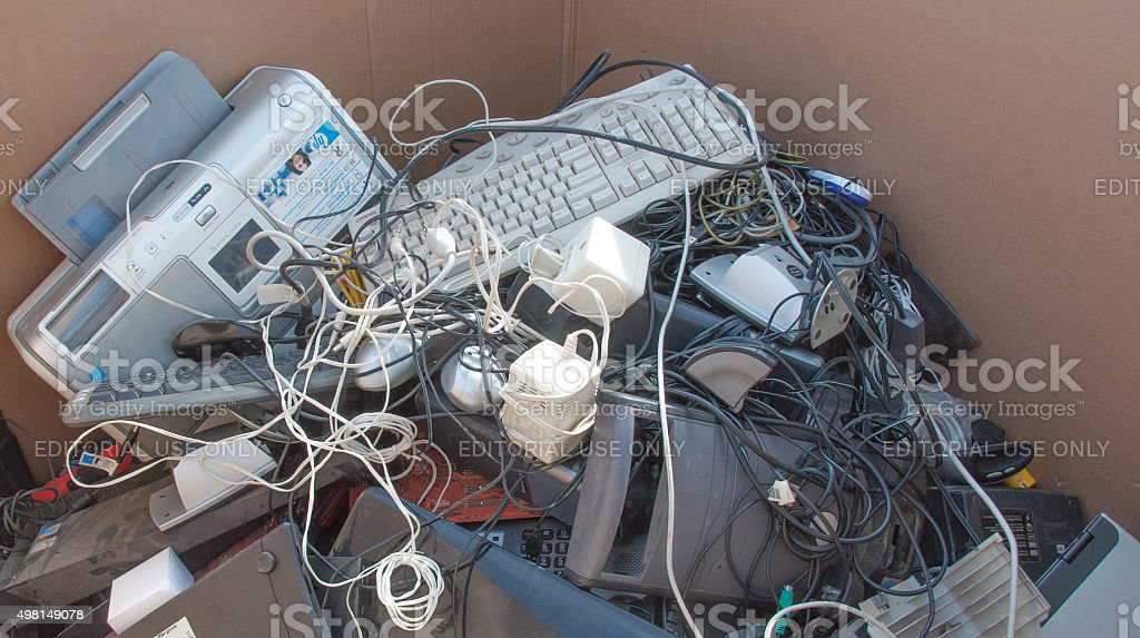 Electronics Donated for Recycling stock photo