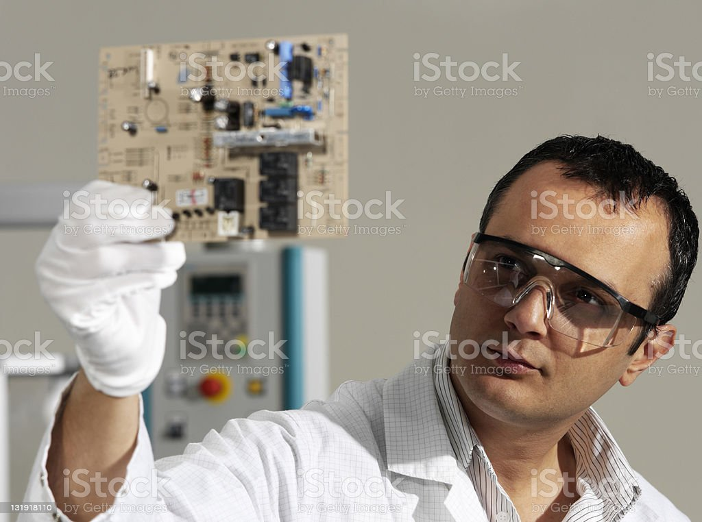 Electronics engineer royalty-free stock photo