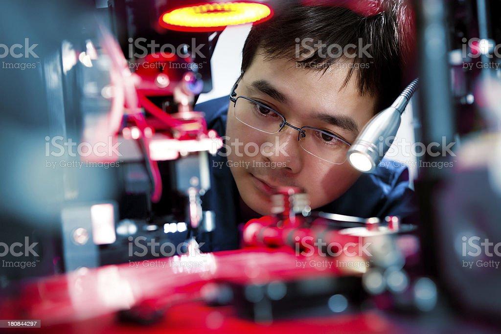 Electronics engineer royalty-free stock photo