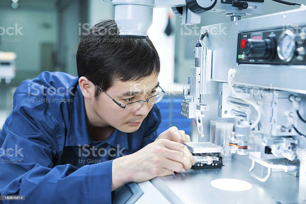 Electronics engineer stock photo