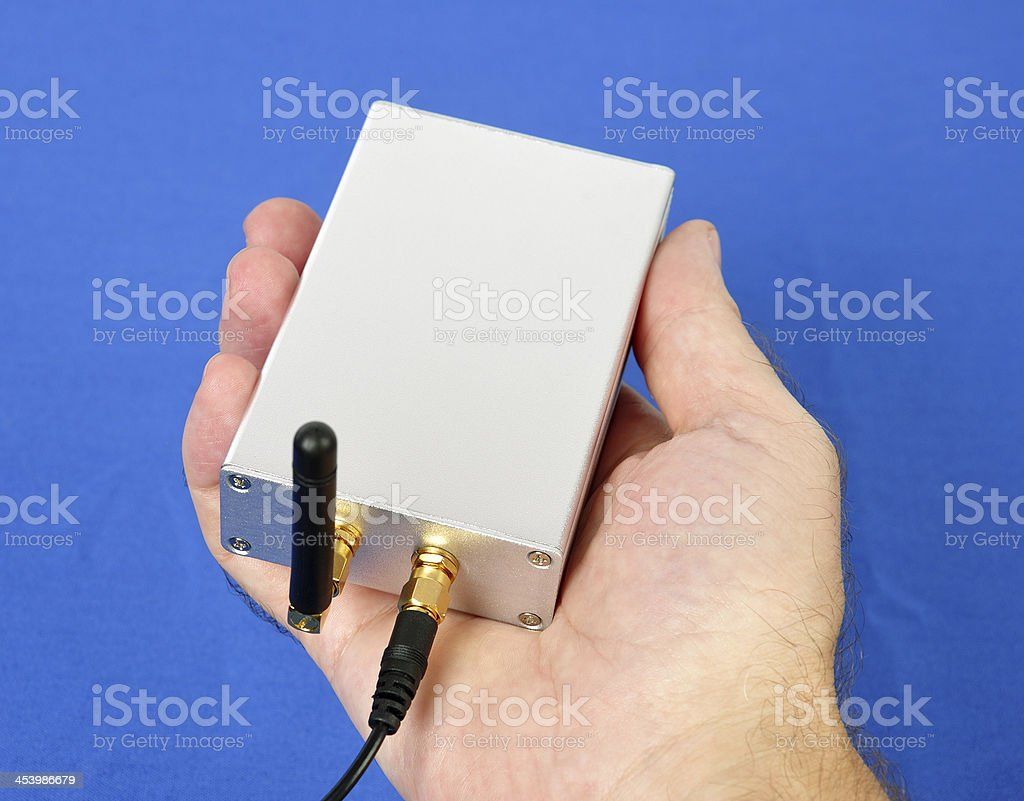 Electronics Module in Hand royalty-free stock photo