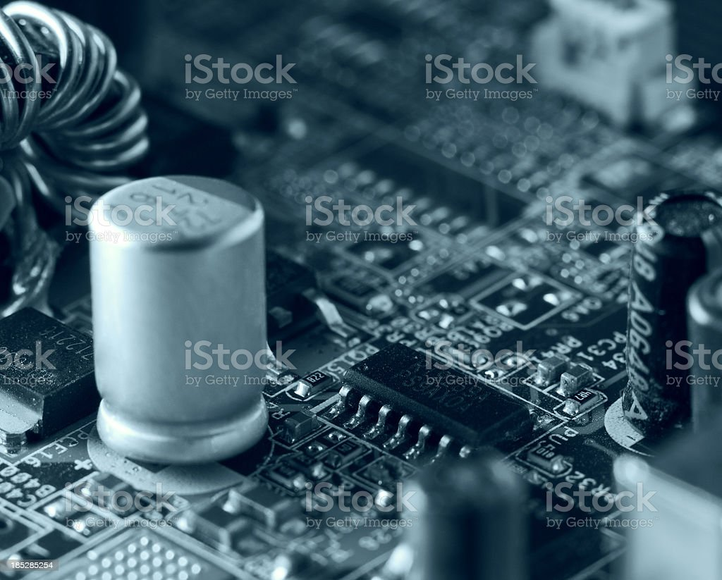 Electronics. Motherboard close up royalty-free stock photo