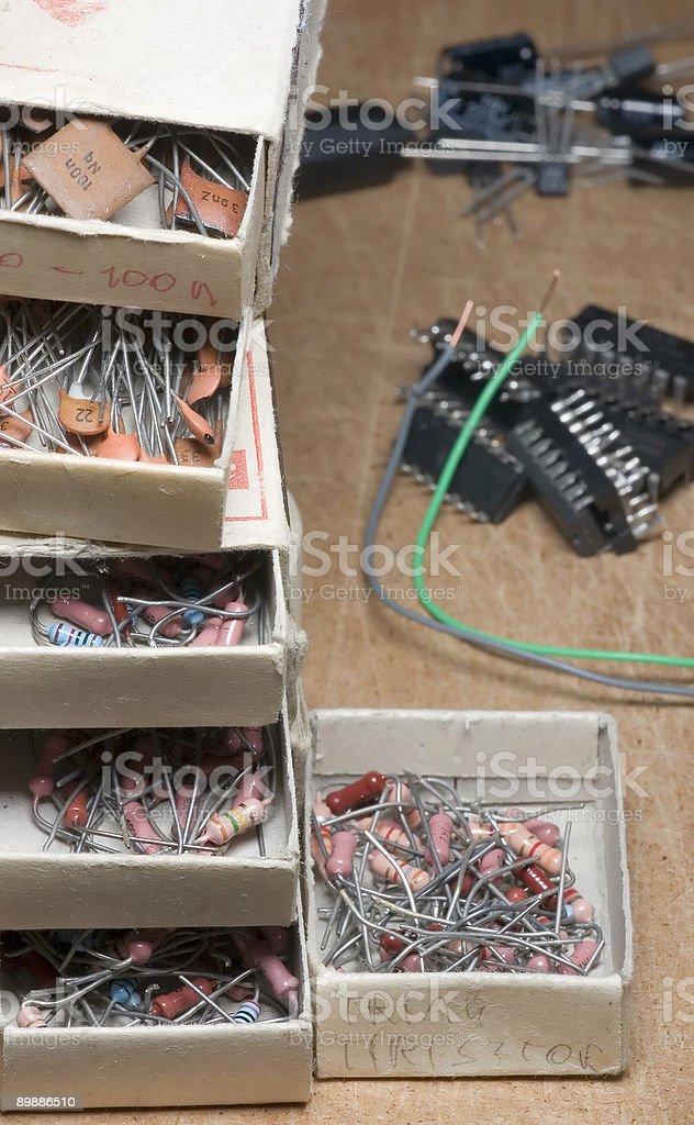 DIY electronics royalty-free stock photo
