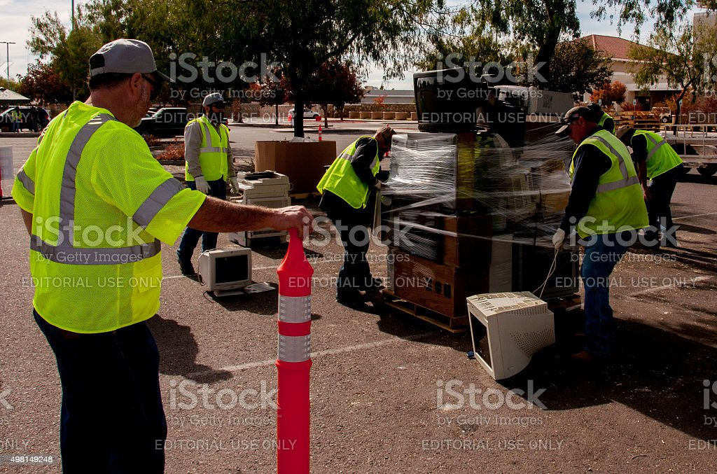 Electronics Recycling Event Helps Control Hazardous Wastes stock photo