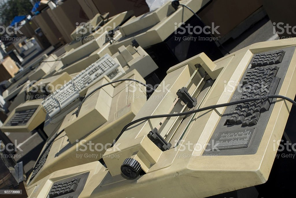 Electronics Recycling royalty-free stock photo