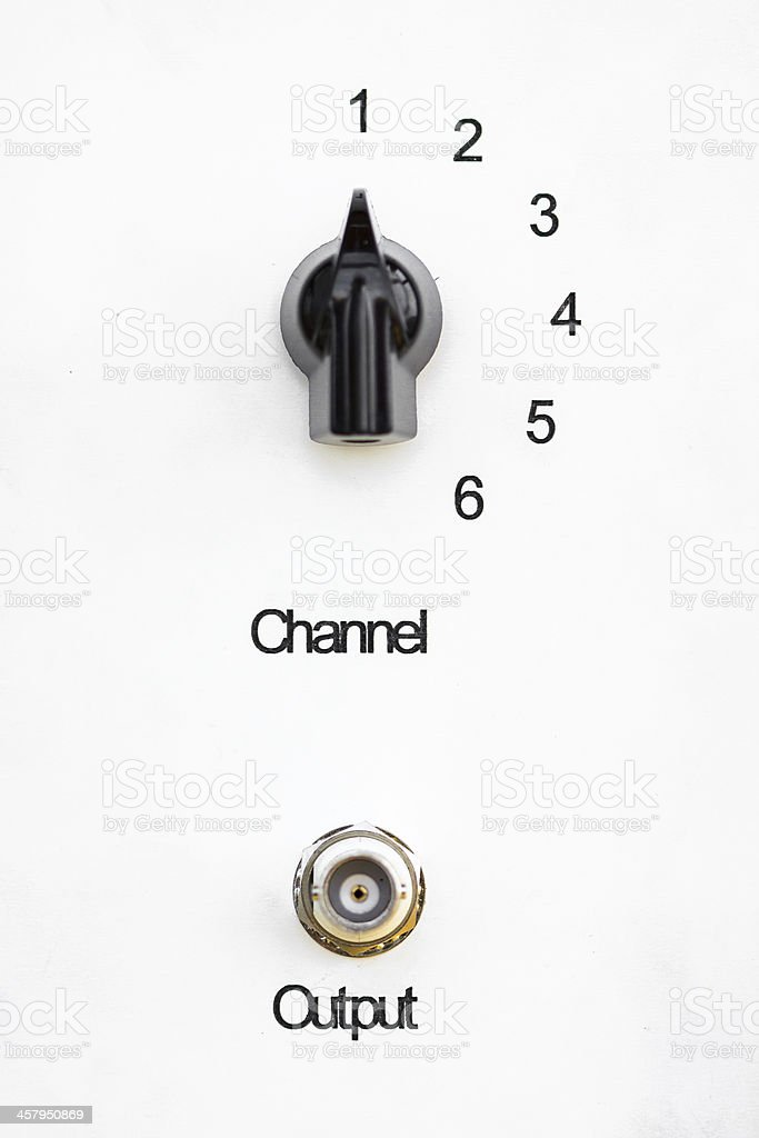 Electronics selector scaled from OFF to 10 and red lamp royalty-free stock photo