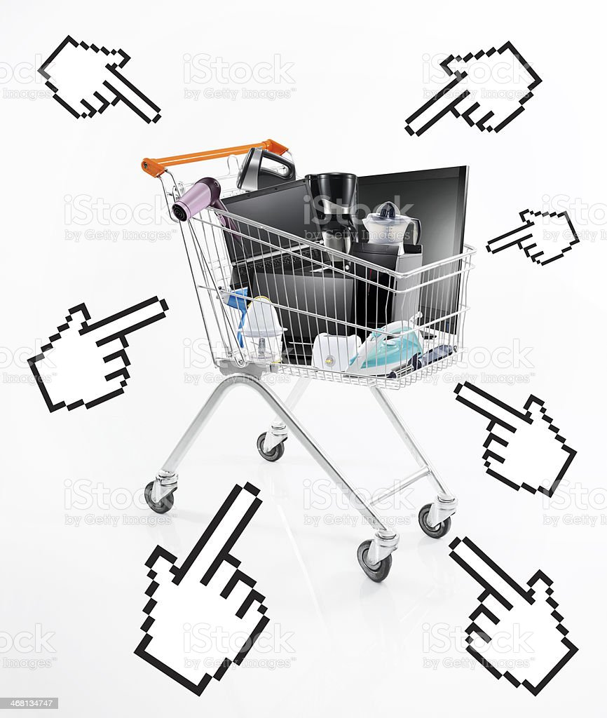Electronics Shopping stock photo