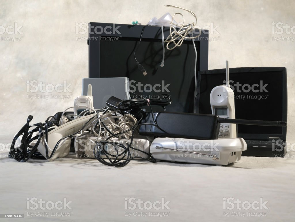 Electronics to Recycle Low Point of View royalty-free stock photo