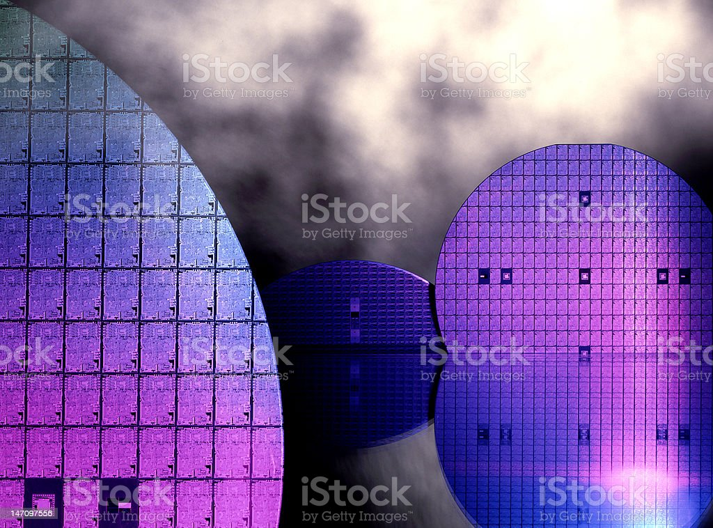 Electronics wafer Disc stock photo
