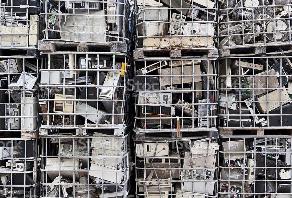 Electronics waste stock photo