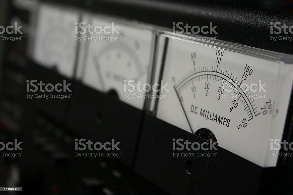 Electrophoresis Voltometer stock photo