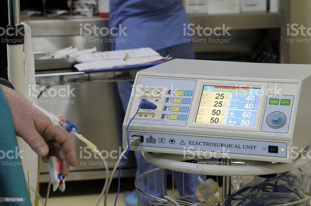Electrosurgical Unit in Operating Room stock photo