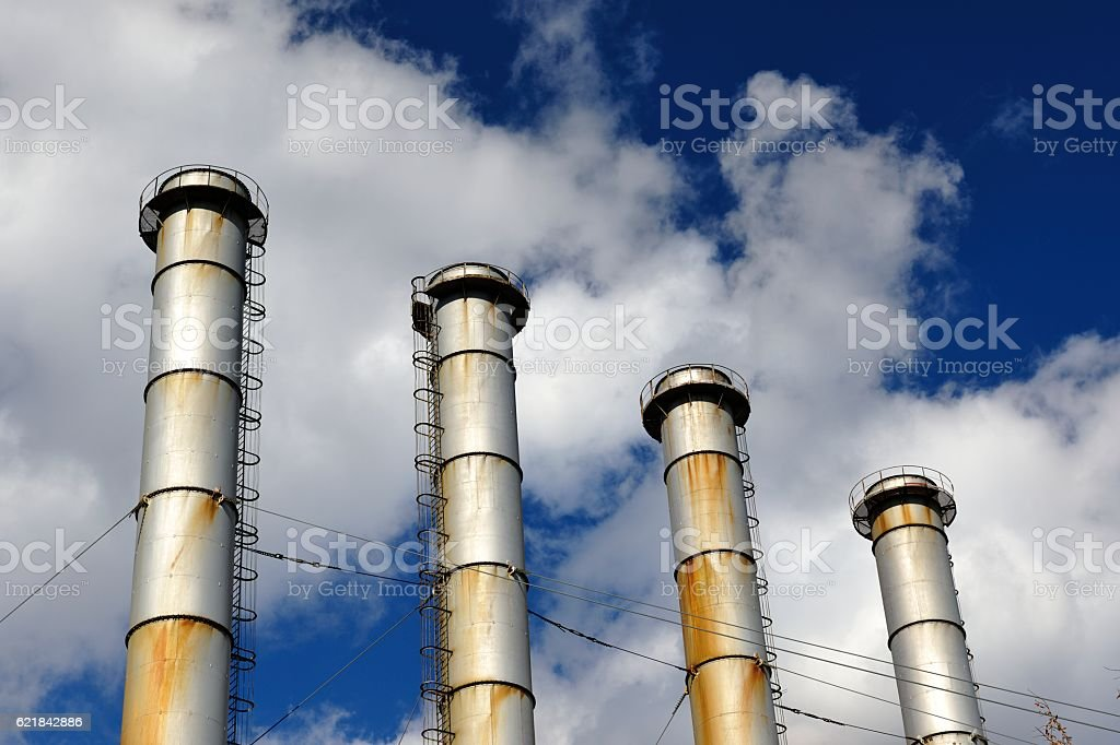 Electro-Themal Power Plant Chimney (Inactive) stock photo