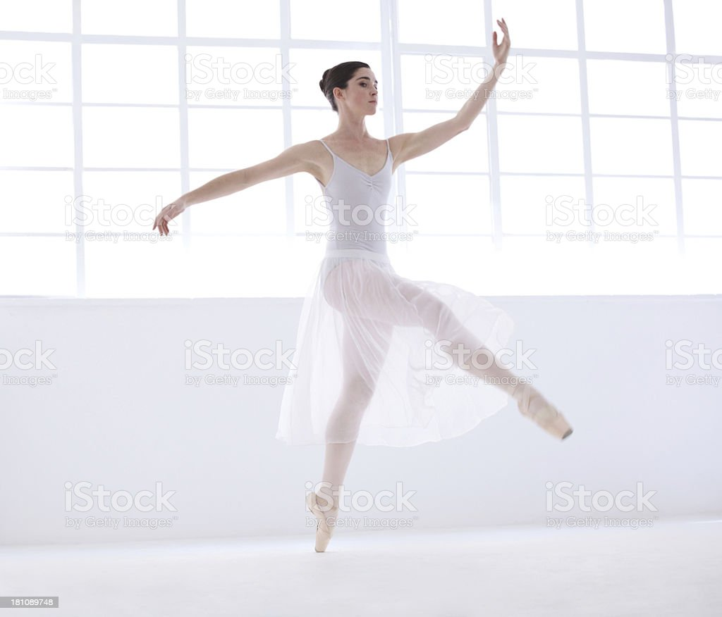 Elegance and grace are her goals royalty-free stock photo
