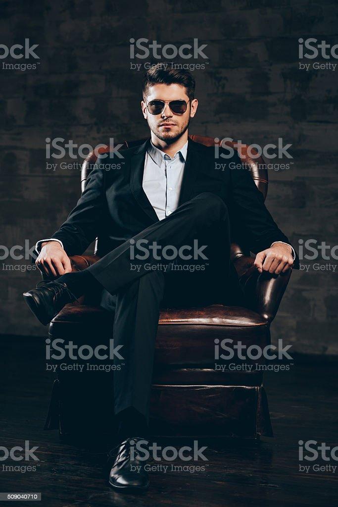 Elegance and masculinity. stock photo