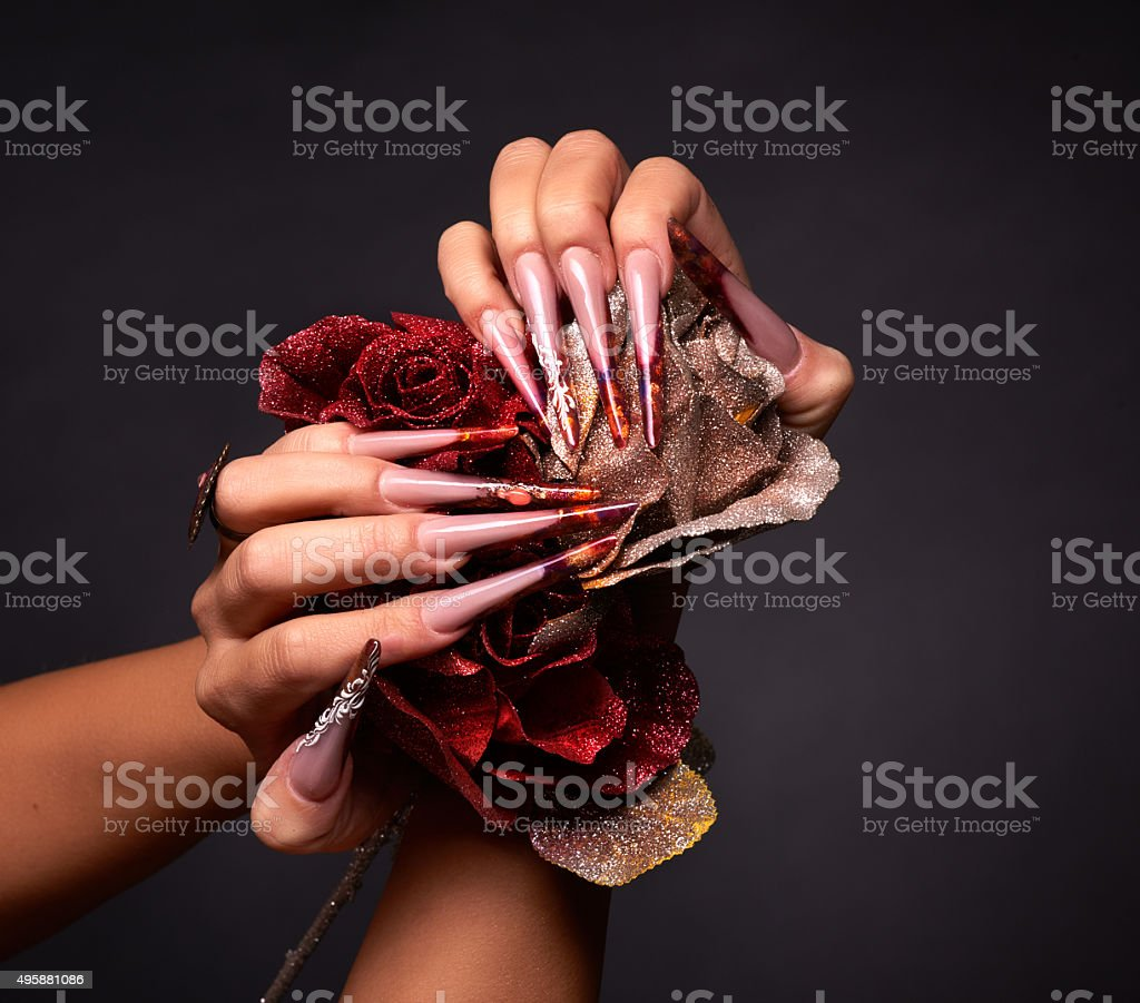 elegance and nail care stock photo