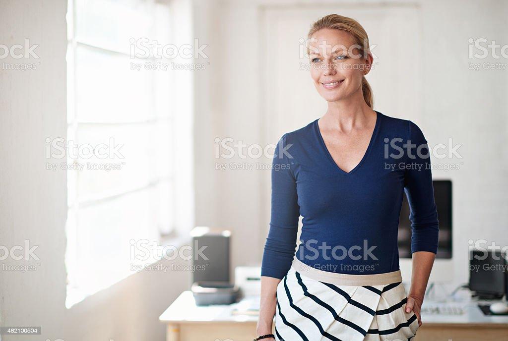 Elegance at work stock photo