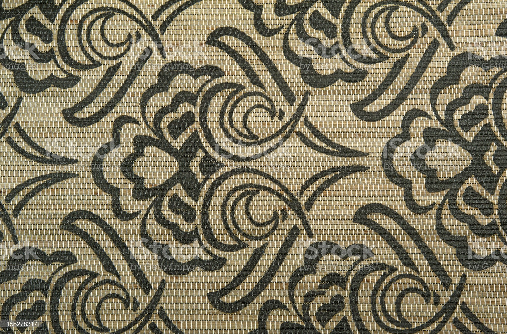 elegance black and gold fabric royalty-free stock photo