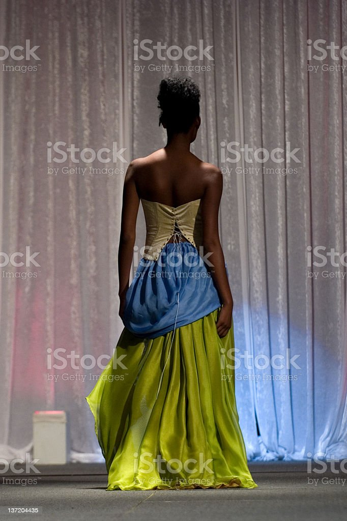 Elegance from behind stock photo