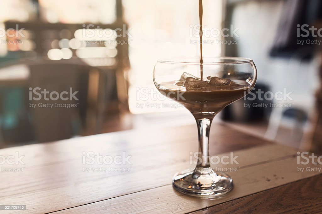Elegance In A Glass stock photo