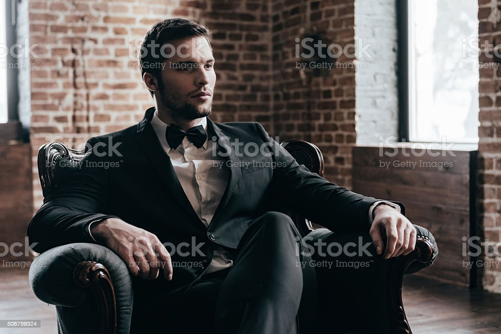 Elegance is in his blood. stock photo