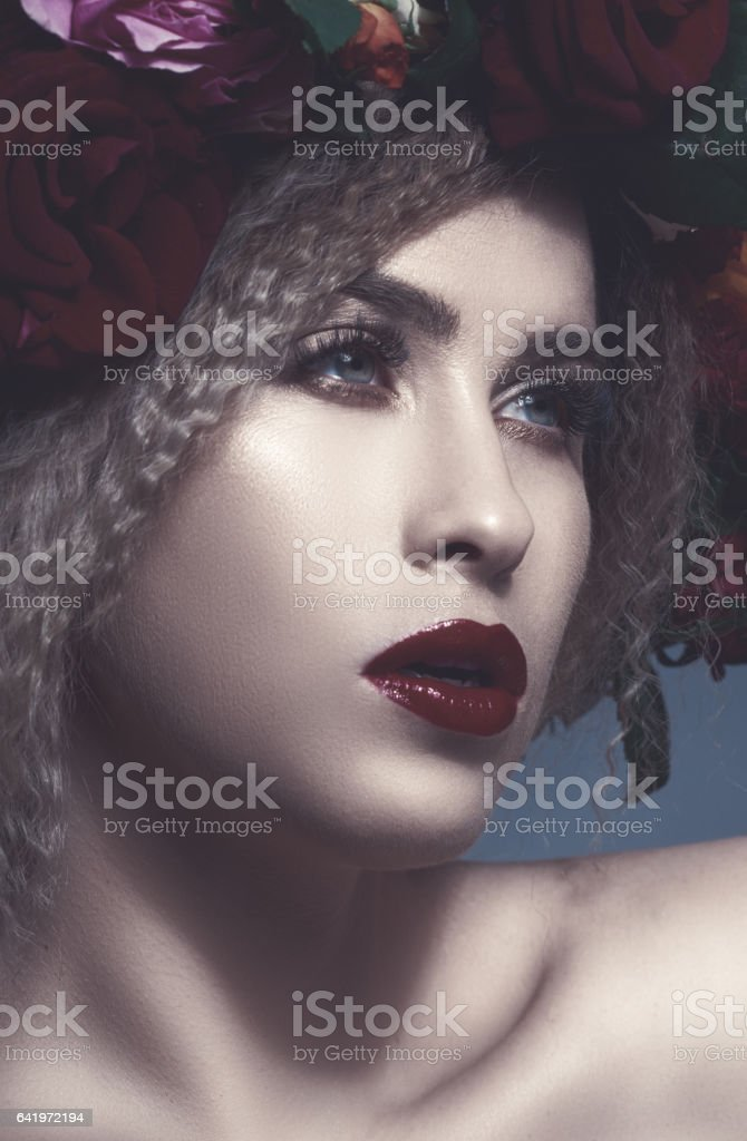 elegance is what define her stock photo