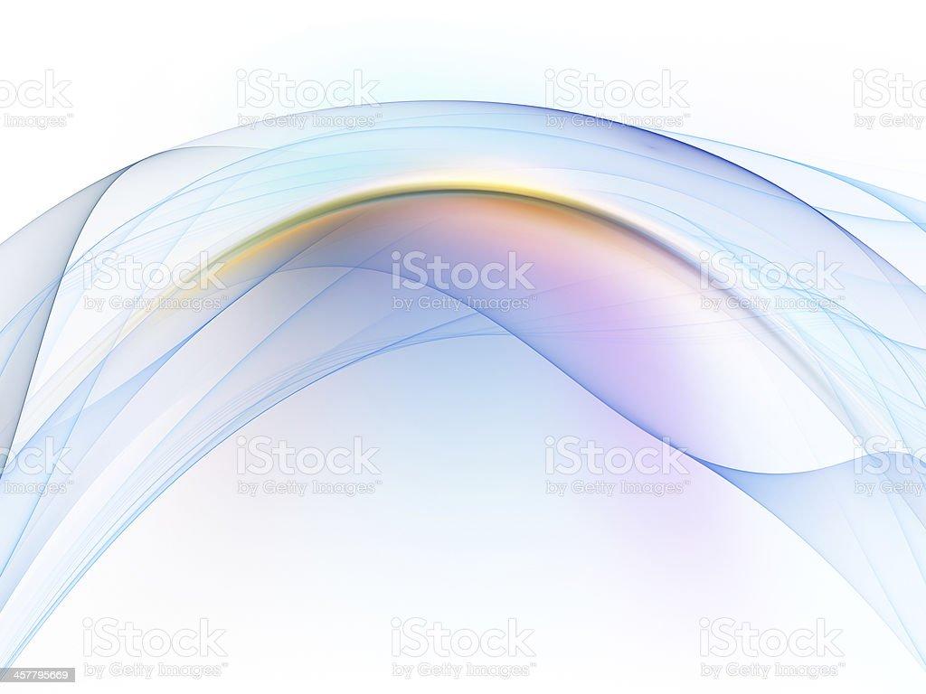 Elegance of Fractal Waves royalty-free stock photo