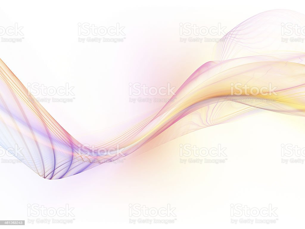 Elegance of Fractal Waves royalty-free stock photo