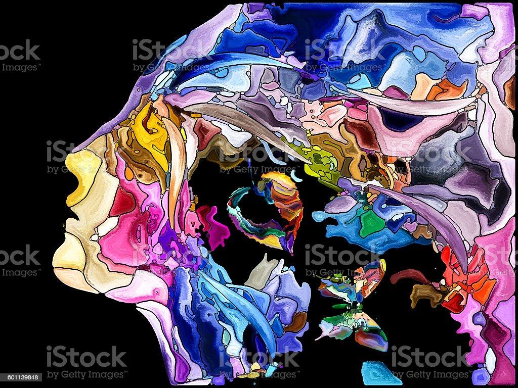 Elegance of Self Fragmentation stock photo