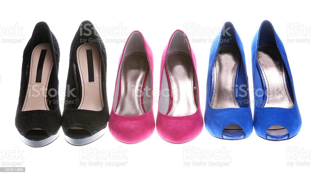 Elegance shoes in a row royalty-free stock photo