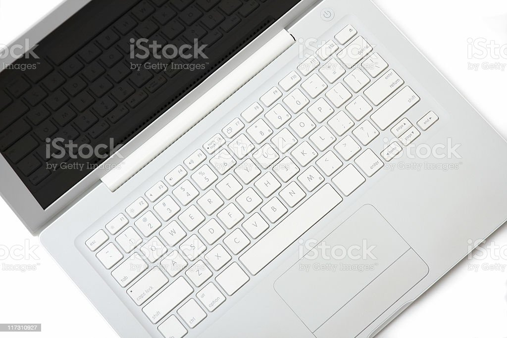 Elegance white laptop. royalty-free stock photo