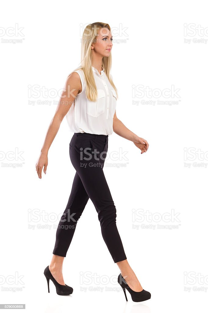 Elegance Woman Walking stock photo